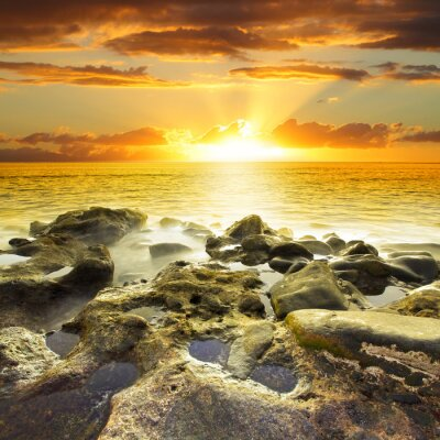Bild Schöne orange Sonnenuntergang