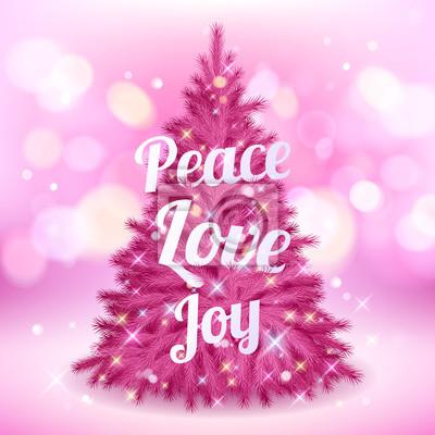 Rosa Weihnachtsbaum.Bild Schöne Rosa Weihnachtsbaum Mit Grüßen
