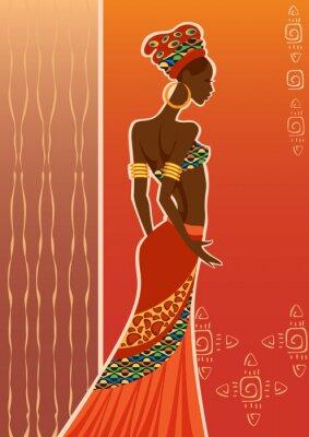 Bild Schöne schwarze Frau. Afrikanische Frau.