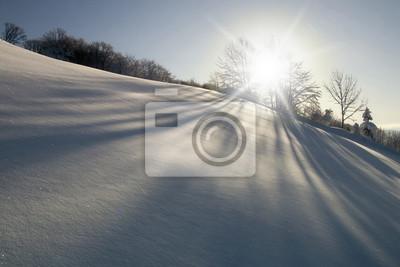 Schöne sonnige Wintertag