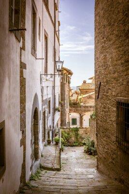 Bild Schöne Straße von Cortona, Toskana