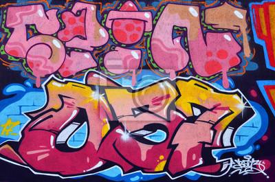 Graffiti Farben.Schöne Straßenkunst Graffiti Abstrakte Farbe Kreative