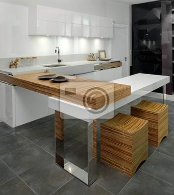 Schone Und Moderne Kuche Interieur Leinwandbilder Bilder Stuhle