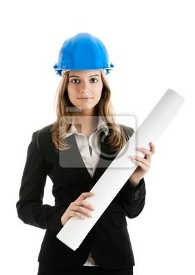 Schöne weibliche Architekt