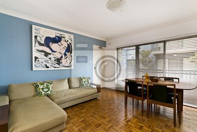 Schöne wohnzimmer architektur stock-fotos leinwandbilder ...