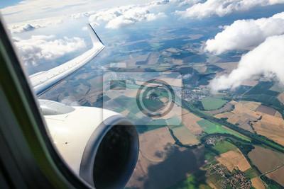 Schöne Wolke Himmel Blick Aus Dem Flugzeug Fenster Leinwandbilder