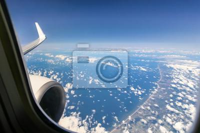 Schöne Wolke Himmel Blick Vom Flugzeug Fenster Leinwandbilder