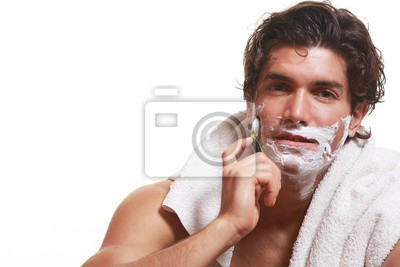 Schöner Mann Rasieren