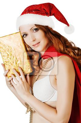 Schönes Weihnachtsmann-Frau