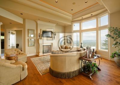 Bild Schönes Wohnzimmer in Luxus-Haus
