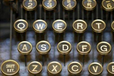 Bild Schreibmaschine / Schlüssel