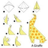Schritt Für Schritt Anleitung Wie Man Origami Biene Leinwandbilder