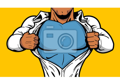 Bild Schwarz Superhero Brust