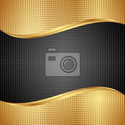 Bild Schwarz und Gold Hintergrund
