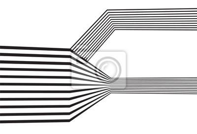 Schwarz und weiß mobious Welle Streifen optischen abstrakten Design