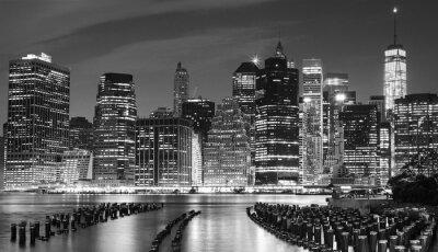 Bild Schwarz-Weiß-Foto von Manhattan Waterfront, NYC, USA.