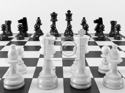 Schwarz-Weiß-Schachbrett