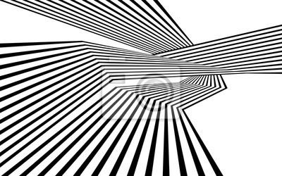 Schwarz-Weiß-Streifen Linie abstrakte Grafik optische Kunst
