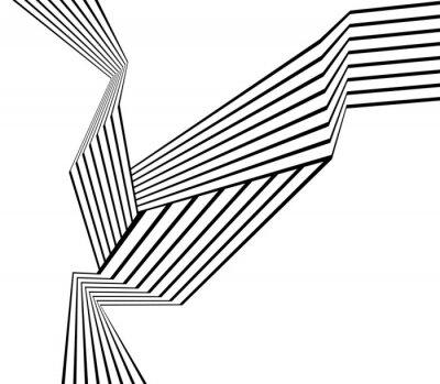 Schwarz-Weiß-Streifen Linie abstrakte Grafik optische Kunst Hintergrund