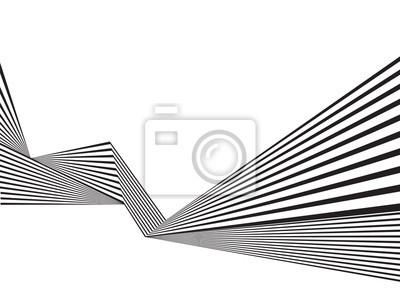 Schwarz-Weiß-Streifen Linie Muster abstrakte Grafik