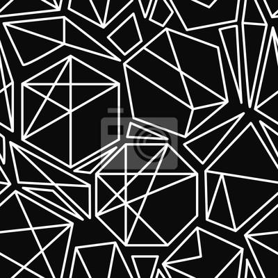 Schwarz-Weiß-Vektor geometrische nahtlose Muster