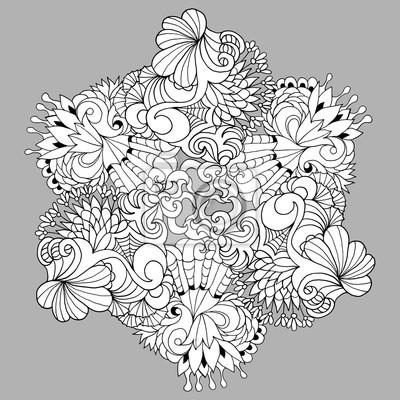 Schwarz-weiß-vektor-illustration für malvorlagen oder andere ...