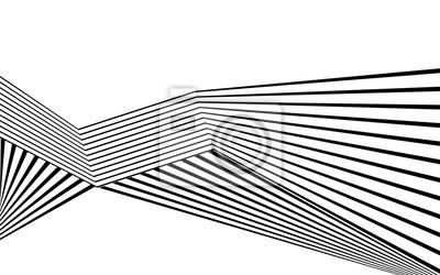 schwarze und weiße Streifen Linie abstrakte Grafik optische Kunst