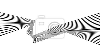 schwarze und weiße Streifen Linienmuster abstrakte Grafik optische Kunst