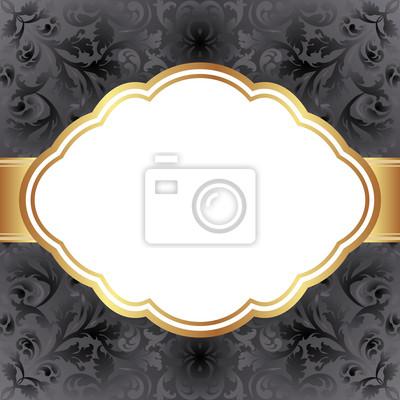 Bild schwarzen Hintergrund mit goldenen Rahmen