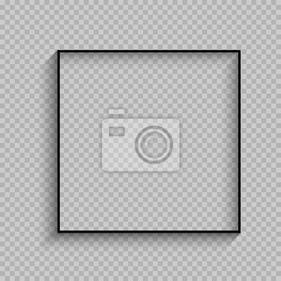 Bild schwarzer dünner quadratischer Rahmen mit Schatten