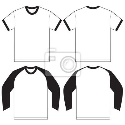 Schwarzes weißes wecker-t-shirt entwurfs-schablone leinwandbilder ...
