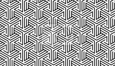 Schwarzweiss-geometrisches Muster