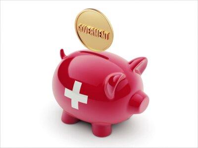 Schweiz-Piggy-Konzept