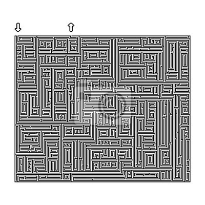 Bild Schwierige Vektor Schwarz-Weiß-Labyrinth für Kinder