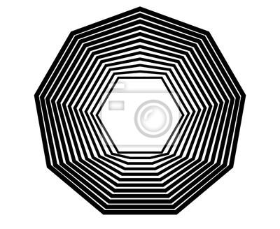 Schwindel schwarze Linien abstrakten Hintergrund
