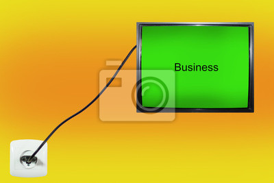 Bild screen that says business