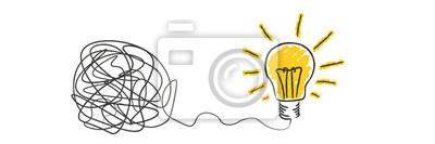 Bild scribble to light bulb idea