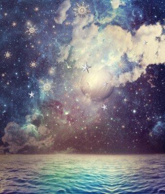 Sea in der sternenklaren Nacht