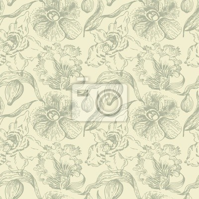 Seamless floral Muster mit Orchidee