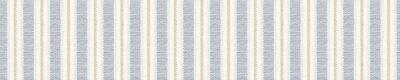 Bild Seamless french farmhouse stripe border pattern. Provence blue linen shabby chic style. Hand drawn texture. Yellow blue banner background. Modern textile ribbon trim