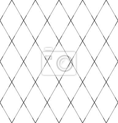 Seamless geometric diamonds pattern. Criss-cross lines texture.