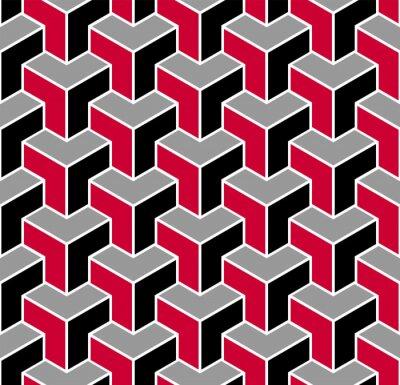 Seamless geometric isometric pattern. 3D illusion.