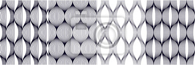 Seamless geometric patterns set. Geometric simple fashion fabric prints. Vector repeating tile textures collection. Wavy curve shapes trendy repeat motif. Single color, black and white.