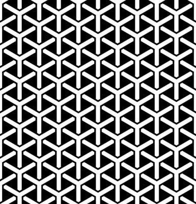 Seamless hexagons pattern. Geometric texture.