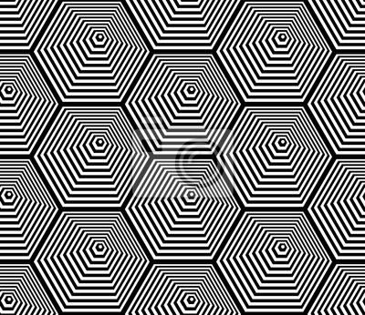 Seamless hexagons pattern. Lines texture.