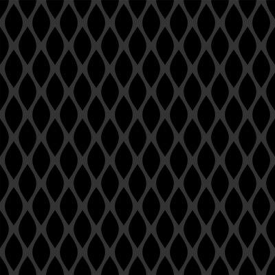 Seamless lattice dark grey pattern on black background.