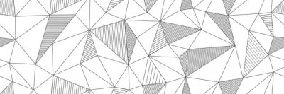 Bild seamless linear pattern forms triangles with hatching elements. Vector illustrations for textures, textiles, simple backgrounds, covers and banners