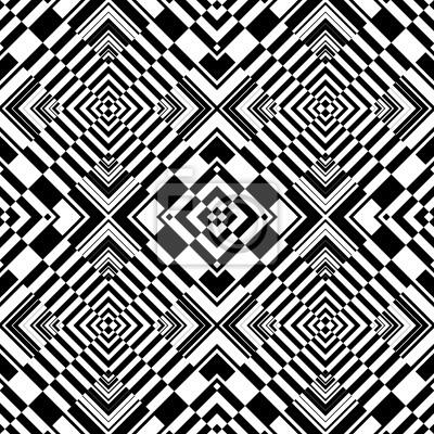 Seamless op art geometrische Muster.