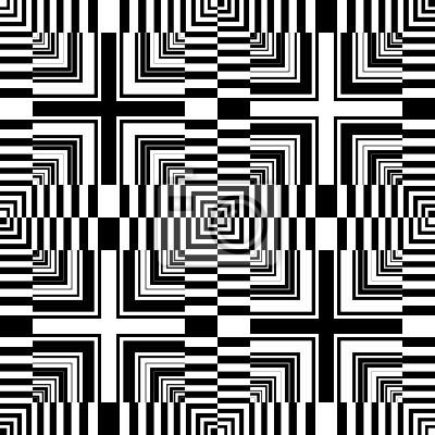 Seamless op art pattern. Abstrakte geometrische Design.