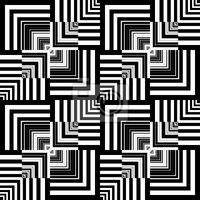Seamless op art pattern. Geometrische Textur.